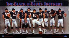 A classic Bears ad that incorporates the Bears with the Blues Brothers film. This Bears team truly does leave you black and blue. 1985 Chicago Bears, Chicago Cubs, Chicago Bears Pictures, Bears Football, Football Stuff, Football Baby, School Football, Football Players, Coming To Theaters
