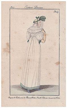 Le Journal des Dames et des Modes 1807 Costume Parisien N°814