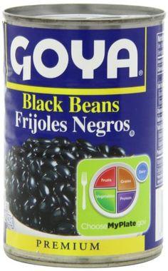 Goya Black Beans – Frijoles Negros 15.5 Oz Pack