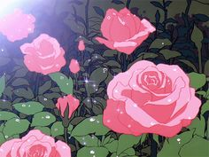 Animation, pink roses, and aesthetic grunge icon image Film Aesthetic, Aesthetic Images, Retro Aesthetic, Aesthetic Videos, Aesthetic Backgrounds, Aesthetic Anime, Aesthetic Wallpapers, Aesthetic Grunge, Old Anime