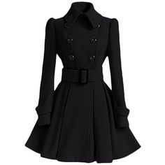 Cityelf Women's Wool Double-breasted Dress Trench Coat WTW0029 ($30) ❤ liked on Polyvore featuring outerwear, coats, woolen coat, double-breasted pea coat, wool trench coats, double breasted peacoat and wool pea coat