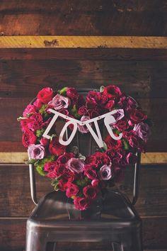 Reusable 138 piece banner Photo by: Michelle Mez Photography Floral Arrangement by: Zora's Flowers Party Stores, Floral Arrangements, Party Supplies, Banner, Valentines, Neon Signs, Engagement, Flowers, Photography