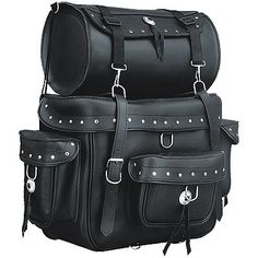 studded motorcycle bags | Studded Motorcycle Touring Bag