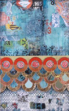 """""""Proud"""", mixed media on canvas, 36x48"""" Jill Ricci http://www.jillricci.com/wp/?page_id=7#"""
