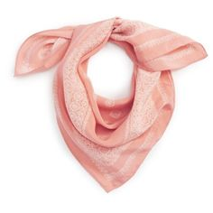 Women's Madewell Silk Bandana (1.440 RUB) ❤ liked on Polyvore featuring accessories, scarves, silk scarves, square scarves, patterned scarves, madewell and madewell scarves