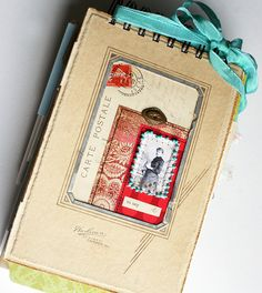 art journal cover by rebecca sower