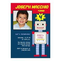 Robot Photo Invitations.  Check out the artist's link.