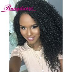 Online Shop Lace Front Human Hair Wigs Kinky Curly Peruvian Virgin Hair Curly With Baby Hair For Black Women U Part Wigs Full Lace Wigs Cheap Human Hair, Remy Human Hair, Human Hair Extensions, Human Hair Wigs, Black Power, Curly Hair Styles, Natural Hair Styles, Pelo Natural, Natural Curls