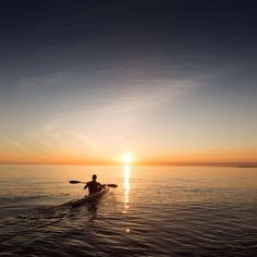 Paddling towards the golden light