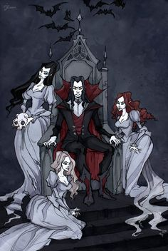 Dracula And His Brides by IrenHorrors on deviantART