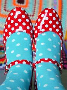 red spotty shoes - would love these