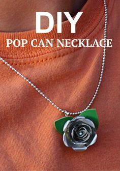 Turn a pop can into this fun DIY flower necklace.