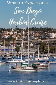 Are you planning a trip to San Diego?  If so, then you really should consider a San Diego harbor cruise.  In this post we outline exactly what to expect on a harbor cruise as well as some useful tips and tricks.  #sandiego #california #harborcruise #couplestravel
