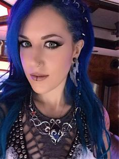 """AlissaWhiteGluzFans FB: Many thanks to the very talented Meryll Khosrofian (The Valerius Heart - Dita Valerius) for this custom necklace! She really took the time to make a piece representative of. The Agonist, Heavy Metal Girl, Ladies Of Metal, Alissa White, Women Of Rock, Symphonic Metal, Arch Enemy, Metal Stars, Death Metal"