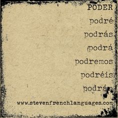 "The Spanish verb ""poder"" (to be able) in the future."