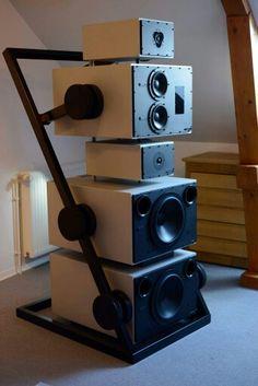 Goldmund - ET Puzzle speaker? Fi Car Audio, High End Speakers, Home Audio Speakers, Audiophile Speakers, High End Audio, Hifi Audio, Top Speakers, Car Audio Installation, Speaker Box Design