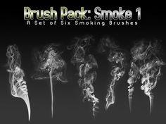 51 Más de 500 pinceles de humo para Photoshop