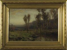 ALBERT INSLEY (AMERICAN 1842-1937). THE TWILIGHT HOUR.