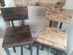 Distressed Reclaimed Wood Bar Stool