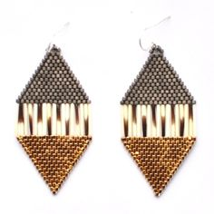 Porcupine Quill Beaded Earrings - Caroline Blechert, Creations by Continuity