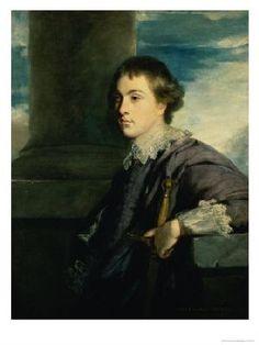 John Spencer, 1st Earl Spencer by Joshua Reynolds, 1759, son of Hon. John Spencer and Lady Georgiana Carteret.  Married Margaret Poyntz.  Father of Lady Georgiana Spencer, later Duchess of Devonshire.