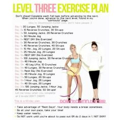 Exercise plan level 3