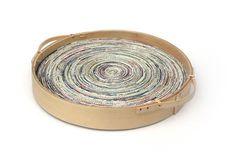 Dienblad recycled papier en bamboek Fair Trade Original Ø 35 cm - € 17,50