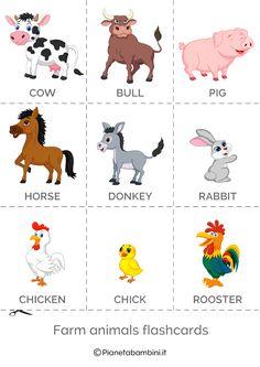 Emotions Preschool, Farm Animals Preschool, Animal Activities For Kids, Creative Activities For Kids, Fall Preschool, English Activities, Learning English For Kids, English Lessons For Kids, Kids English