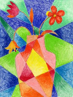 Art Projects for Kids: Abstract Flower Drawing