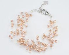 Starry Floating Beaded Pearl Bracelet