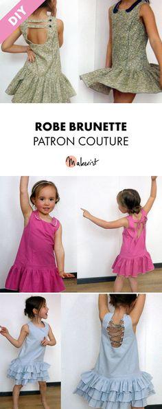 Patron couture - Robe taille enfant. Découvrez ce modèle de robe à coudre sur makerist.fr