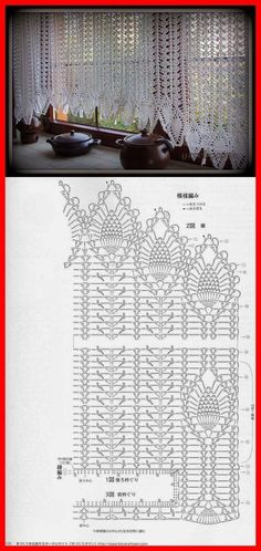 Window treatments: Crochet Pineapple