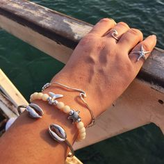 Sterling Silver Cowrie Sea Shell Bracelet, Cowrie Bangle, Sea Shell Bracelet, Sea Shell Bangle Bracelet, Sea Shell Jewelry, Gift, For Her