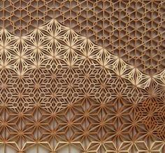 Wood lattice.  Could also cut paper designs