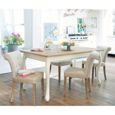 Mesa de comedor de madera An. 160 cm