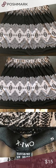"🆕 Black and White skirt Great skirt never wore no tags . Waist 21.5"" length24"" X-Two Skirts"
