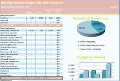 Download Daily Expense Budget Spreadsheet Excel Template