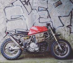 "On BikeBound.com: ""El Chapo"" #Ducati #750SS #scrambler by @vonsmotz!"