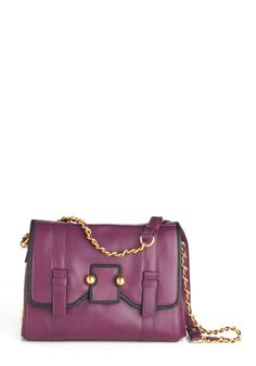 Botkier Plum Hither Bag - Black, Chain, Purple, Gold, Solid, Casual, Scholastic/Collegiate, Leather $394.99