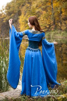 Lady of the Lake Dress with Medieval Suede Bodice