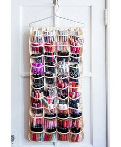 Plastic Jewelry Hangers You know those plastic jewelry storage thingy-ma-jigs that hang on the back of your door or on the inside of your cupboard? Now you've found a new use for them!