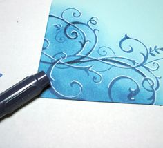 How to make 3-d looking flourishes for cards & journal pages.
