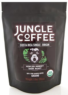 Jungle Coffee Costa Rican Organic Dark Roast Ground Coffee 1 lb >>> For more information, visit image link-affiliate link.