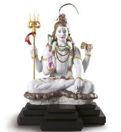 Lladro 01981 LORD SHIVA  http://www.lladrofromspain.com/0loshl.html  Issue Year: 2016  Sculptor: Virginia González  Size: 62x78 cm  Base included  Limited Edition 720 pieces  #lladro #lord #shiva #hindu #porcelain