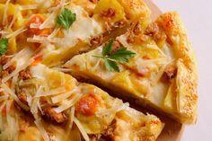 Torta salata con patate, tonno e scamorza affumicata Quiche, Lasagna, Italian Recipes, Baked Potato, Mashed Potatoes, Cauliflower, Macaroni And Cheese, Nom Nom, Food And Drink
