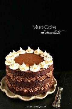 Mud Cake al cioccolato Torte Cake, Cake & Co, Sweet Recipes, Cake Recipes, Dessert Recipes, Cake Cookies, Cupcake Cakes, Cupcakes, American Cake