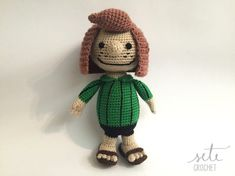 [This is a CROCHET pattern in a PDF file, NOT the finished toy. If you are looking for the finished Peppermint Patty doll, please contact me.] This is my tribute to Peanuts Peppermint Patty, also known as boss :) This is a simple and detailed pattern, complete with pictures. It should