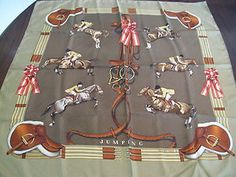Hermes silk scarf--who cares what or who a Hermes is.  It has horses on it, that's all that matters!