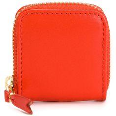 Comme Des Garçons Wallet Colour Plain Coin Purse (£43) ❤ liked on Polyvore featuring bags, wallets, coin purse wallets, zippered change purse, coin pouch wallet, comme des garçons and zip coin purse