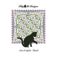 March Cats & Quilts Counted Cross Stitch Pattern by Kitty And Me, via Flickr